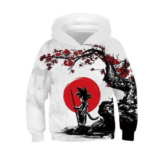 Kids Dragon Ball Hoodie Goku Printed Sweatshirt