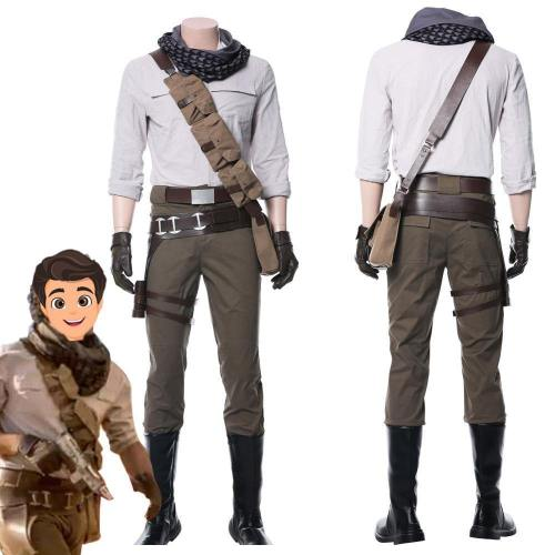 Star Wars 9: The Rise Of Skywalker Poe Dameron Cosplay Costume Whole Set Adult Men Halloween Carnival Costumes