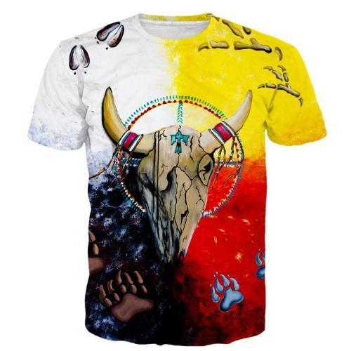 Vintage Spiritual Skull 3D T-Shirt V2
