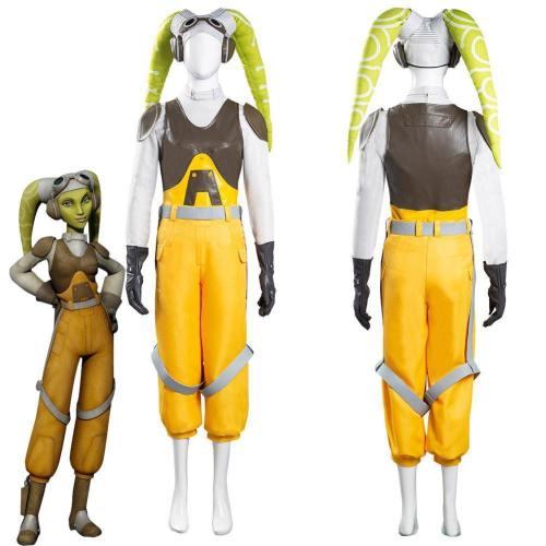 Star Wars Rebels Hera Syndulla Women Vest Pants Outfits Halloween Carnival Suit Cosplay Costume