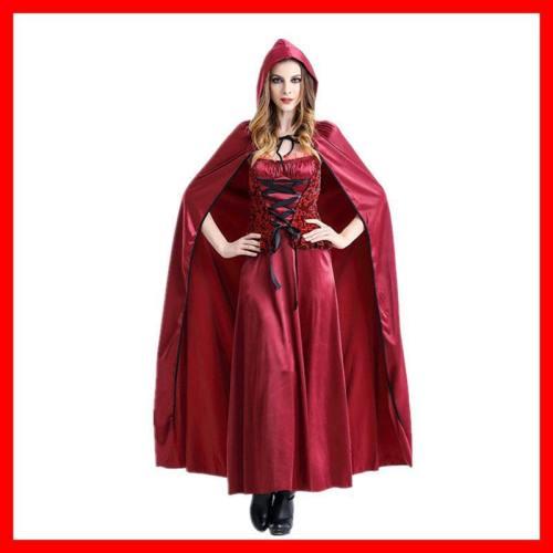 Halloween Costumes Little Red Riding Hood Long Dress Costume Queenhood