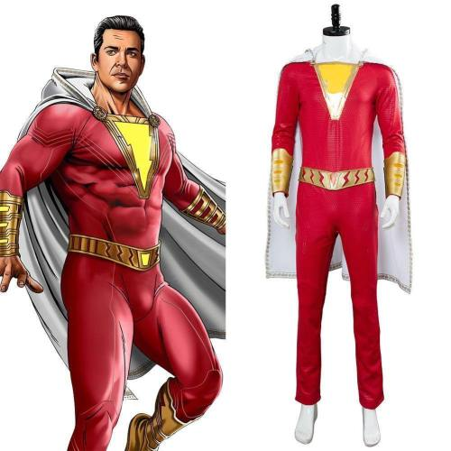 Movie Shazam Billy Batson Outfit Cosplay Costume