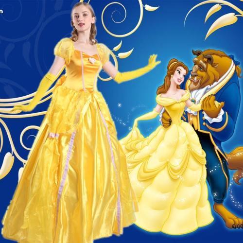 Beauty And The Beast Bella Dress Costume Halloween Cosplay