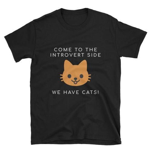 We Have Cats  Short-Sleeve Unisex T-Shirt (Black/Navy)