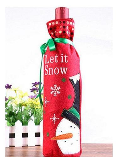 Christmas Wine Bottle Cover For Party Decoration