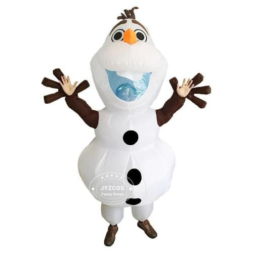 Olaf Snowman Costumes For Women Men Adult Purim Halloween Inflatable Christmas Blowup Anime Cosplay Fancy Dress Up Mascot
