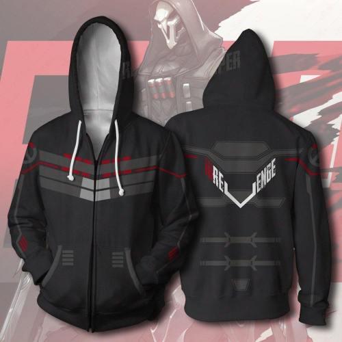 Overwatch Bleach Zipper Hoodie