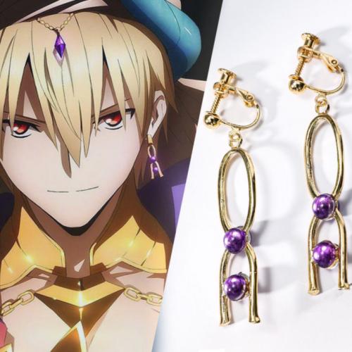 Game Fate Grand Order Gilgamesh Earrings Fgo Earring Ear Stud Cosplay