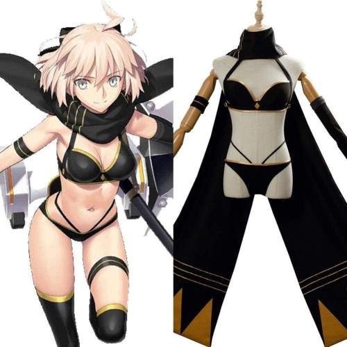 Fate/Grand Order Okita Souji Swimsuit Cosplay Costume