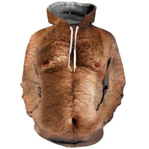 Mens Hoodies 3D Printing Ugly Printed Winter Hoodies Tracksuits