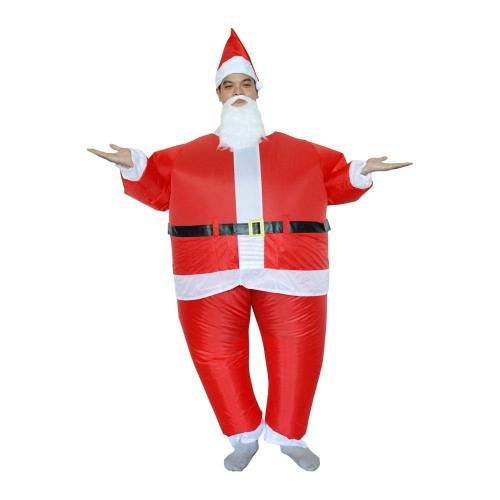 Inflatable Santa Claus Costumes Christmas Halloween Party Cosplay