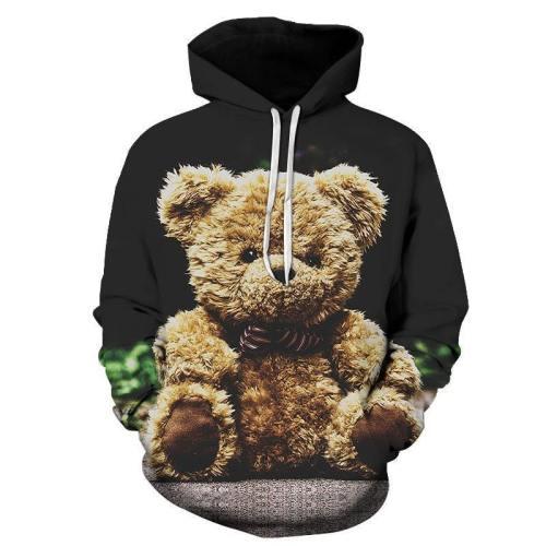 Brown Teddy Bear 3D - Sweatshirt, Hoodie, Pullover