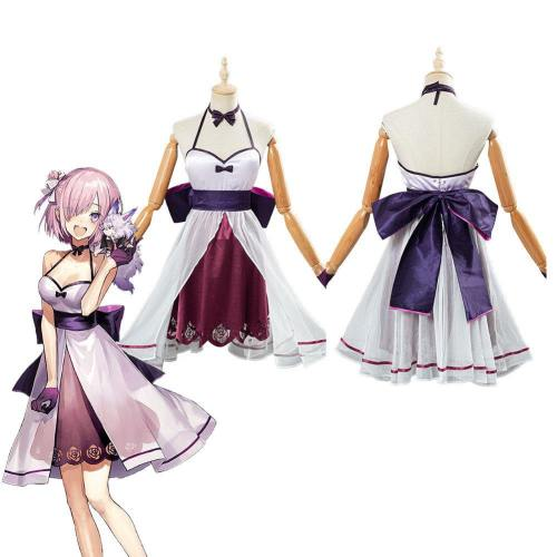 Fate/Grand Order Fgo Mash Kyrielight Dress Halloween Carnival Costume Cosplay Costume