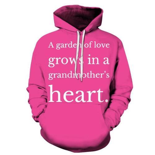 Pink Grandma 3D - Sweatshirt, Hoodie, Pullover
