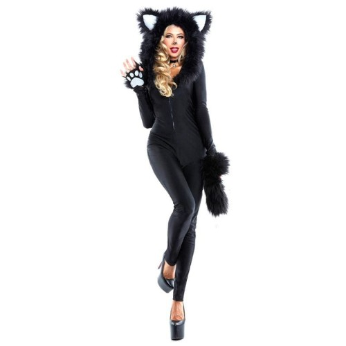 Woman Halloween Carnival Costumes Sexy Catwoman Costume Cat Jumpsuits