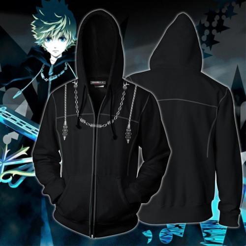 Kingdom Hearts Iii Roxas Hoodie Cosplay Jacket Zip Up
