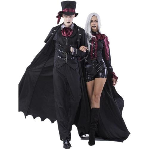 Halloween Vampire Cosplay Demon Costume Gentleman Suit Lovers Clothes