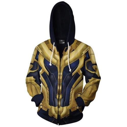 Adult Endgame Thanos Hoodie Halloween Cosplay Costume Hooded Sweatshirts