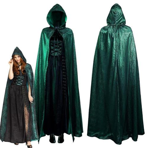 Emerald Sorceress Cloak Dress Outfits Halloween Carnival Suit Cosplay Costume
