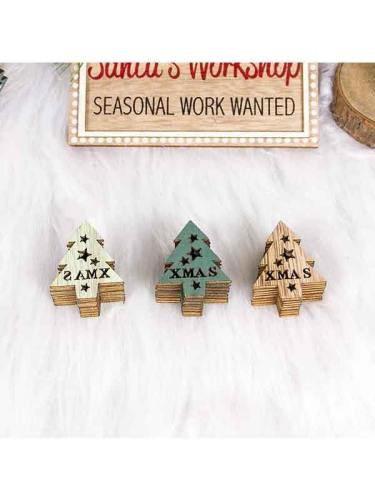 Wooden Hanging Ornaments Xmas Tree Hanging Decorations