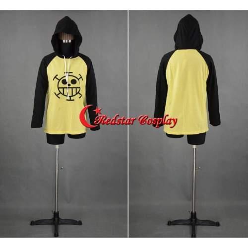 Anime One Piece Trafalgar Law Cosplay Sweater Hoodie Death Surgeon Costume