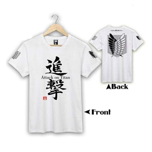 Attack On Titan Recon Corps Hooded Sweatshirt White T-Shirt Cosplay Hoodie