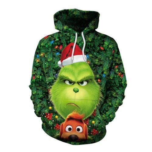 Grinch Hoodie - The Grinch Pullover Hooded Sweatshirt