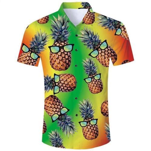 Mens 3D Printing Shirts Pineapple Pattern