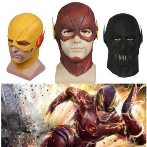 The Flash Barry Allen Mask Cosplay Costume Halloween Party  Prop