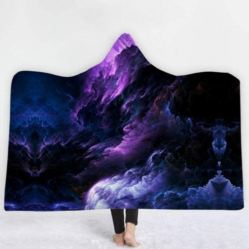 Dark Stormy Night Hooded Blanket