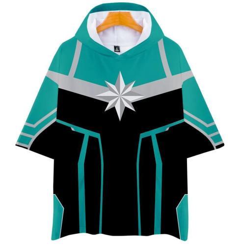 Captain Marvel T-Shirt - Carol Danvers Graphic Hoodie T-Shirt Csos941