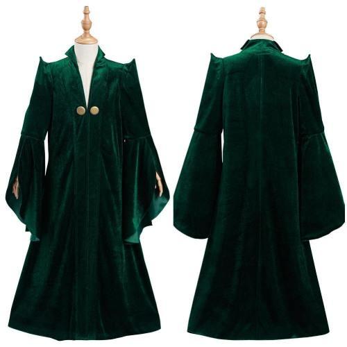 Harry Potter Minerva Mcgonagall Kids Children Robe Coat Halloween Carnival Suit Cosplay Costume