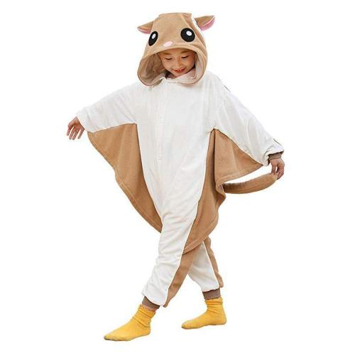 Flying Squirrel Costume For Kids Onesie Pajamas For Girls