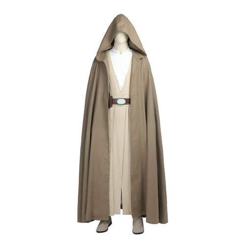 Star Wars The Last Jedi Luke Skywalker Costume Halloween Adult Cosplay Suit