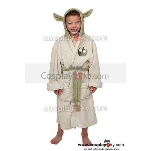 Star Wars Yoda Jedi Ears Fleece Bathrobe Kids Robe