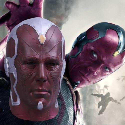 The Avengers Vision Cosplay Mask Superhero Costume Full Halloween Party Prop