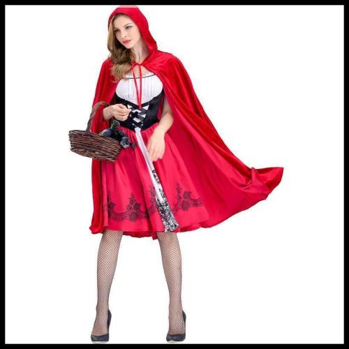 Halloween Costume Little Red Riding Hood Cosplay Party Dress