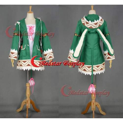 Date A Live Yoshino Cosplay Costume Green Rabbit Jacket Cosplay Hoodie Custom In Any Size