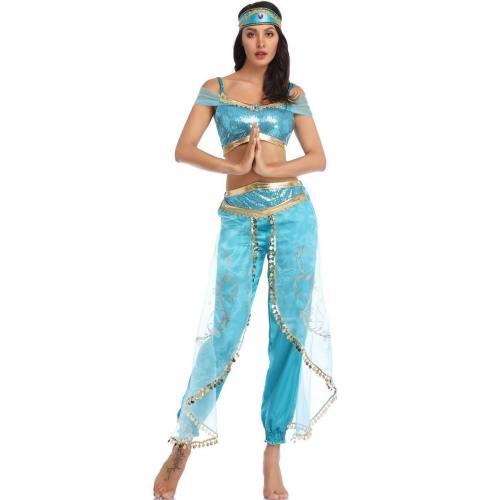Arabian Nights Princess Jasmine Costume Sexy Dance Clothing