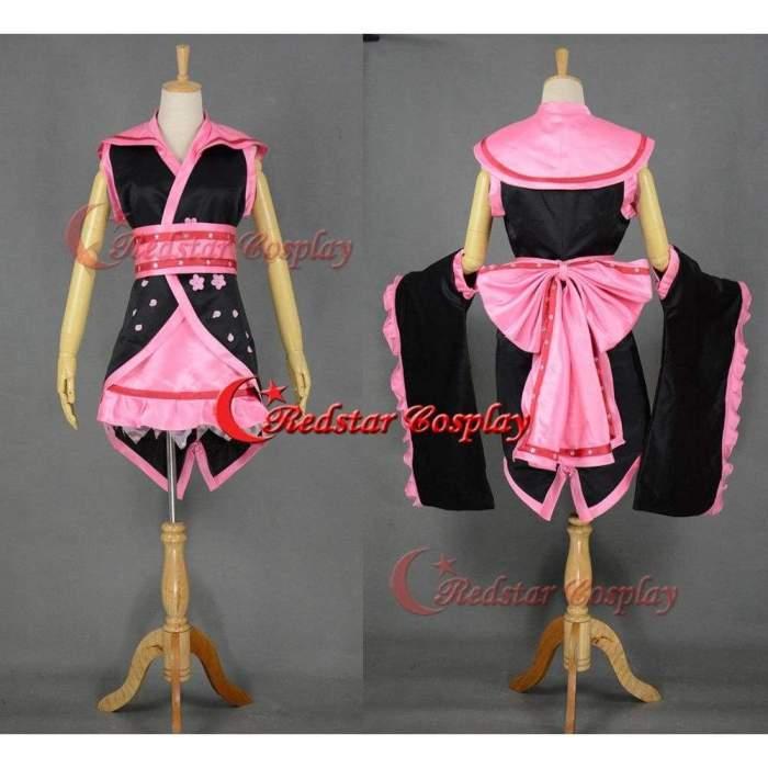Vocaloid Hatsune Miku Sakura Kimono Lolita Cosplay Costume - Tailed In Any Size
