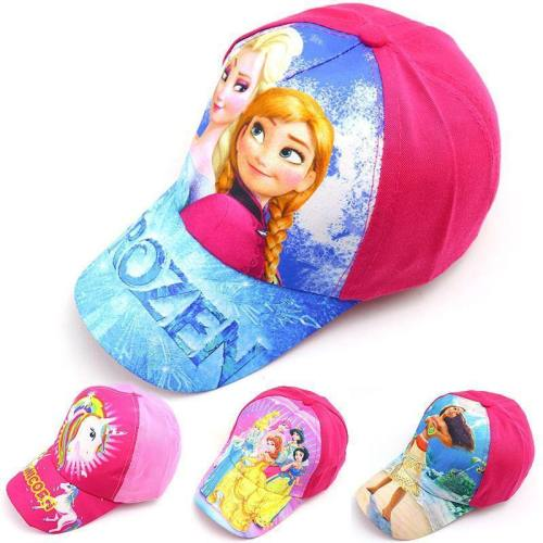 Children'S Visors Frozen Elsa Anna Cap Casual Sun Baseball Cartoon Hat