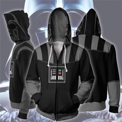 New Movie Star Wars: The Rise Of Skywalker Zip Hoodie Men And Women Cosplay Sweater Anime Costume 3D Printing