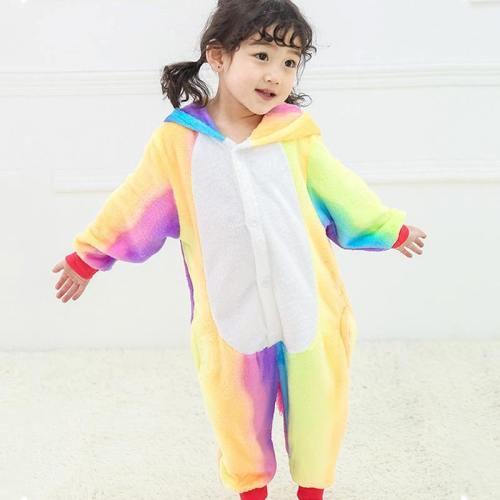Child Romper Rainbow Color Costume For Kids Onesie Pajamas For Girls Boys