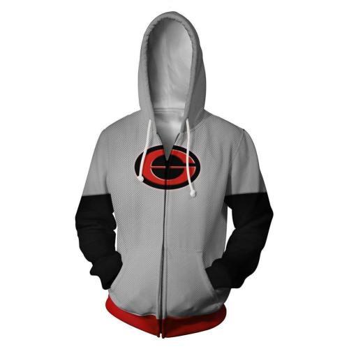 Unisex Elastigirl Hoodies The Incredibles 2 Zip Up 3D Print Jacket Sweatshirt