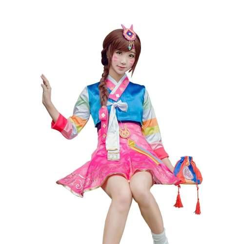 Overwatch Ow Dva Hana Song Korean Traditional Cosplay Costume