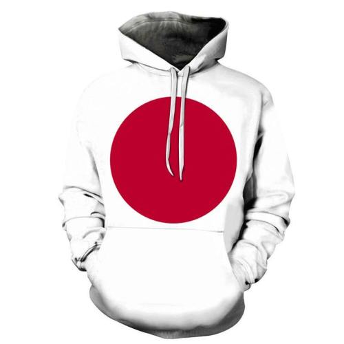 3D Japan Flag - Hoodie, Sweatshirt, Pullover