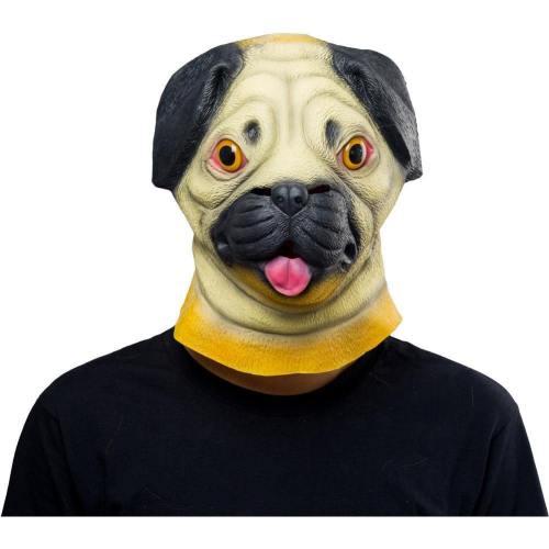 Sharpei Dog Helmet Halloween Animal Latex Helmet Full Face Adult Cosplay Props