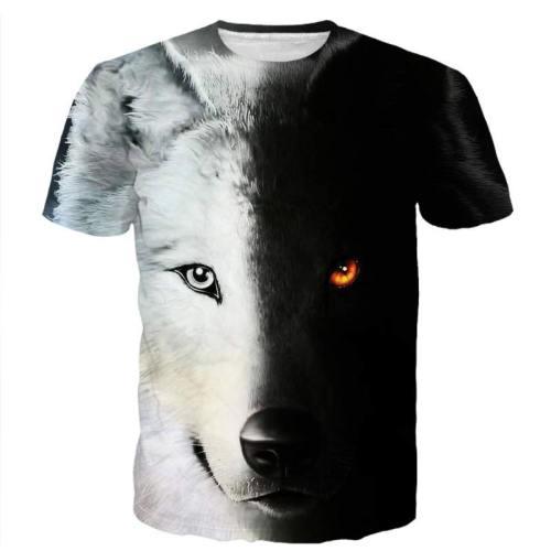 Black And White Wolf Shirt