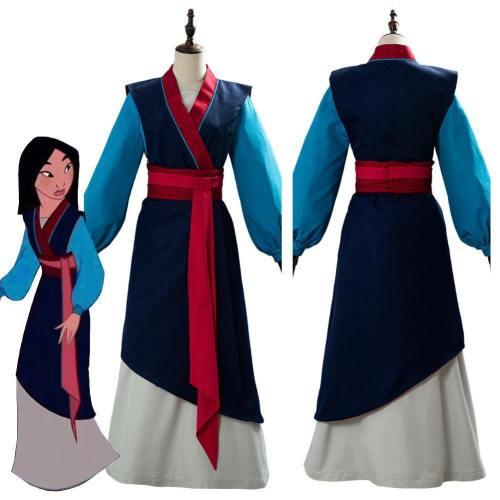 Anime Hua Mulan Hanfu Dress Chinese Clothing Full Set Cosplay Costume