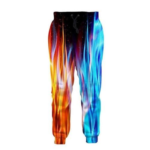 Mens Jogger Pants 3D Printing Ice & Fire Pattern Sweatpants